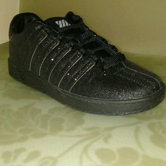 K-Swiss Shoes   Girls Black Sparkle
